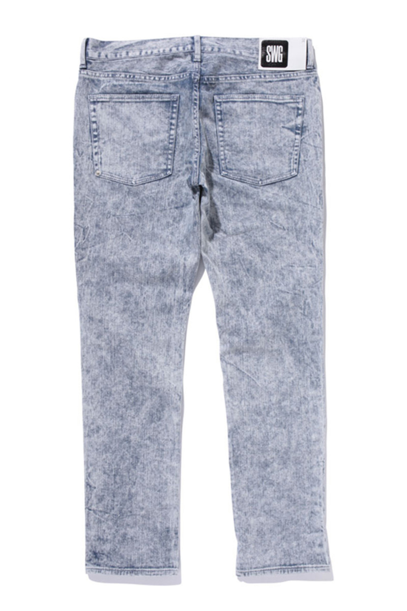 Crater Wached Denim Pants Gray 2