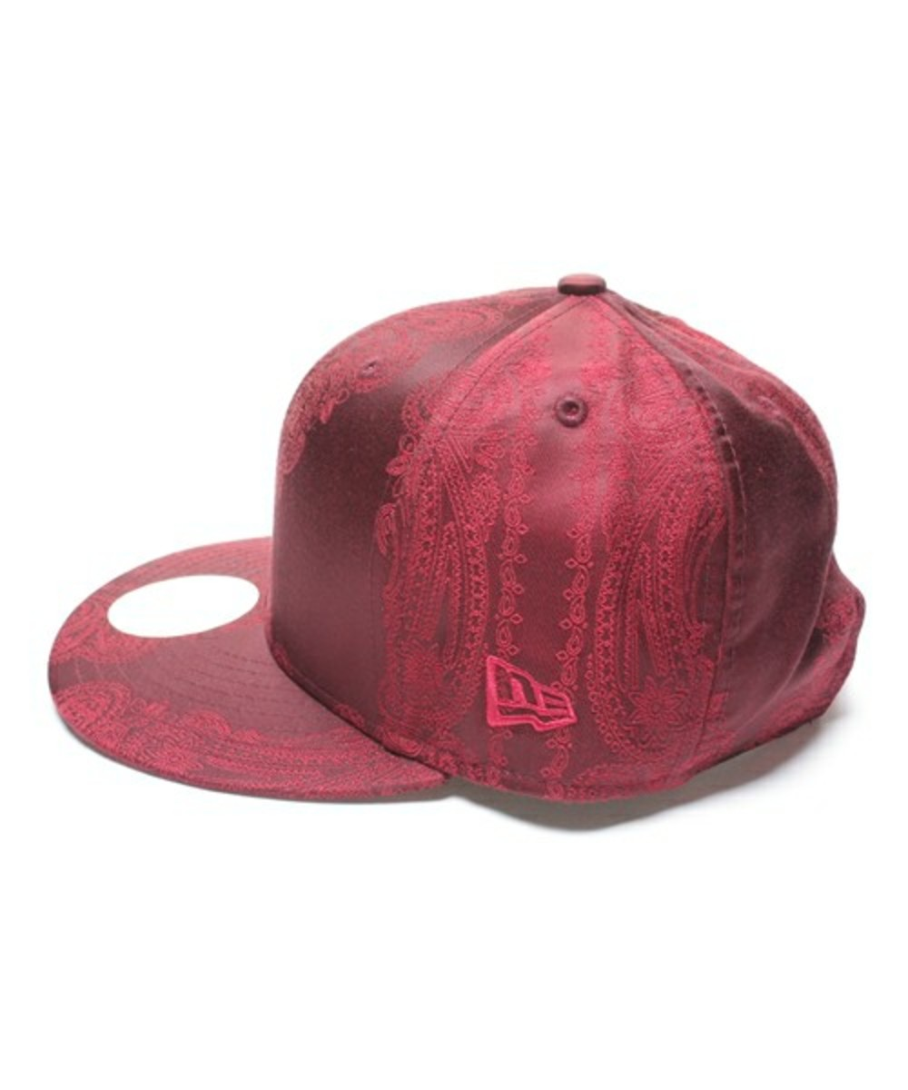 Paisley Snap Back Cap Wine 2