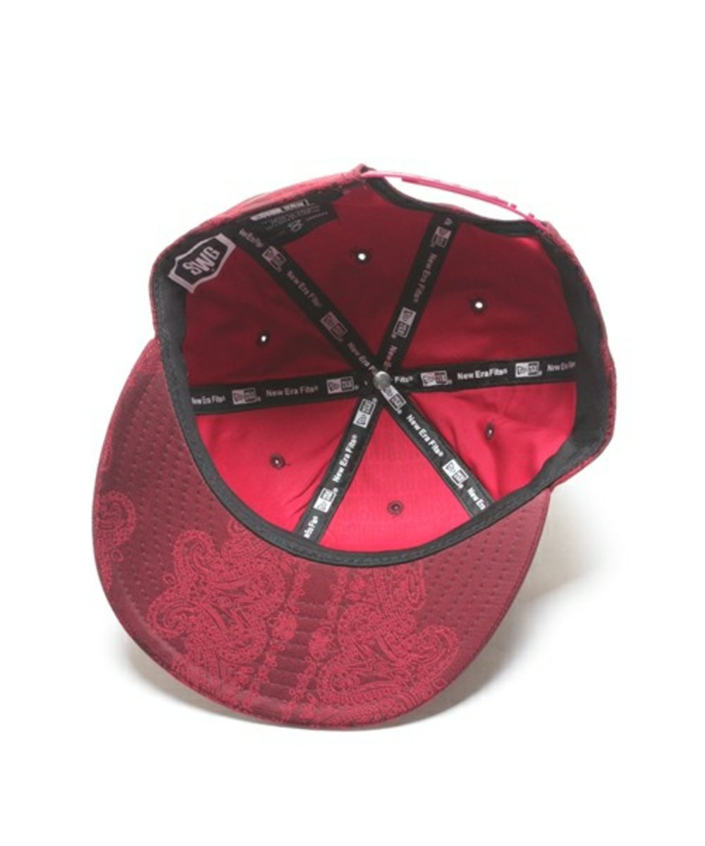 Paisley Snap Back Cap Wine 4