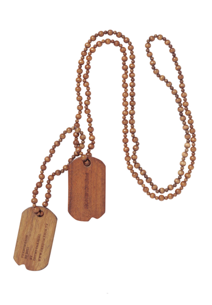 Wooden Dog Tag Brown