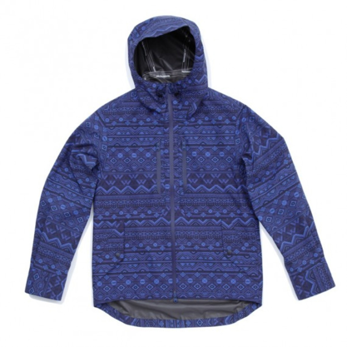 Gore Tex Paclite Shell Primitive Pattern Short Jacket Blue Navy