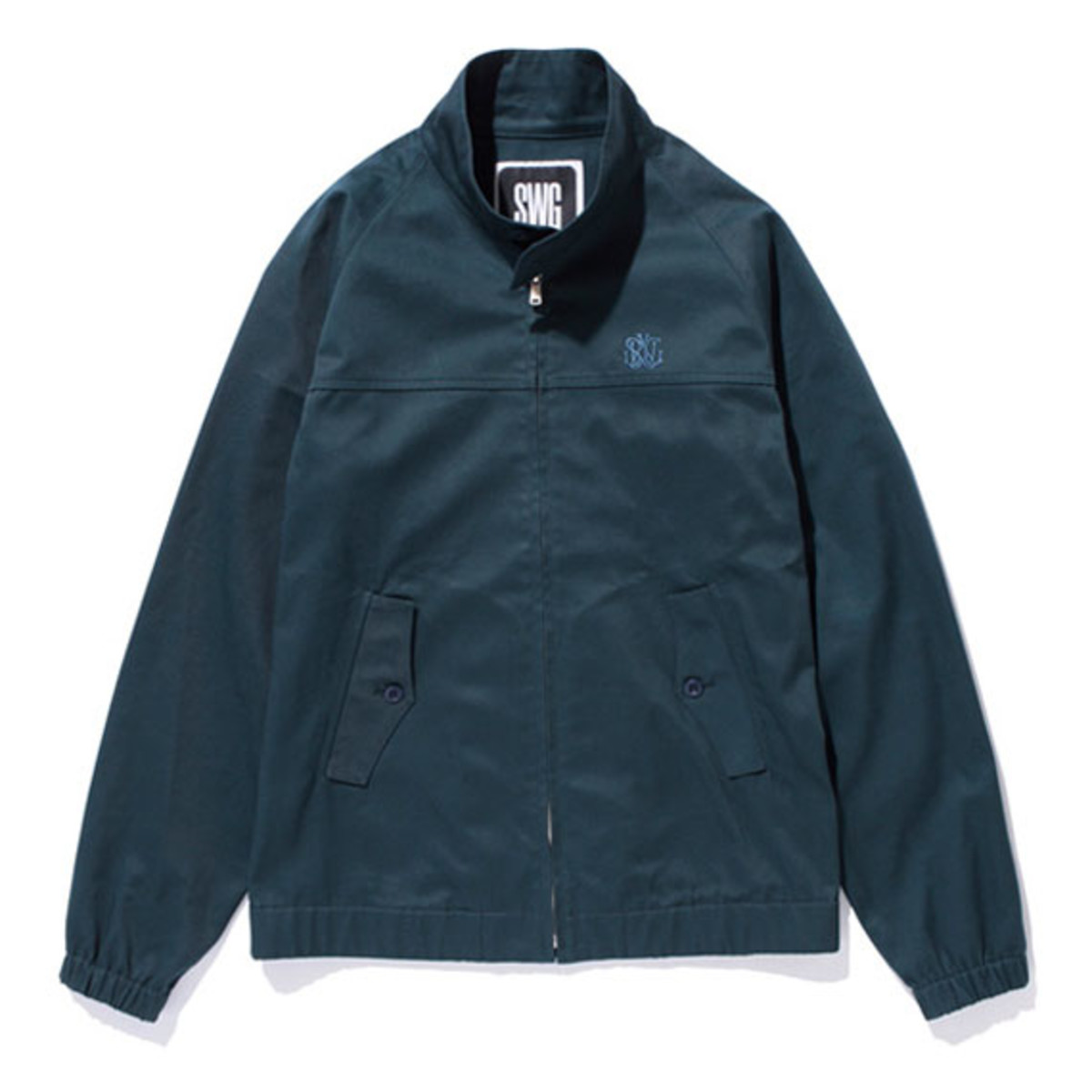 Cotton Swing Top Jacket Blue Green