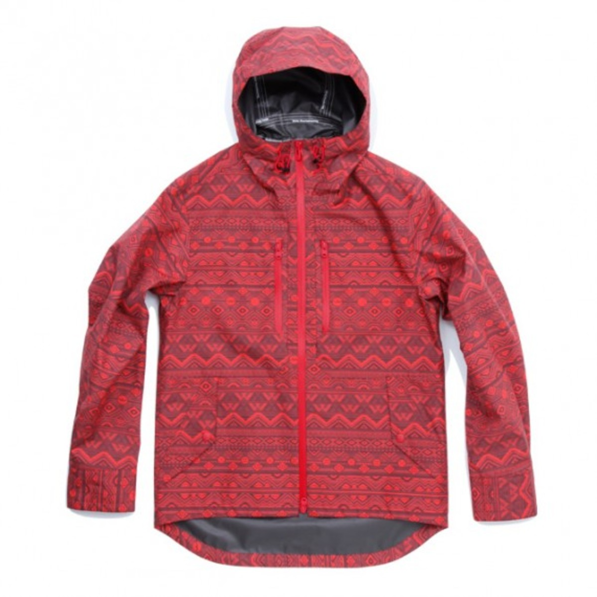 Gore Tex Paclite Shell Primitive Pattern Short Jacket Burgundy Red