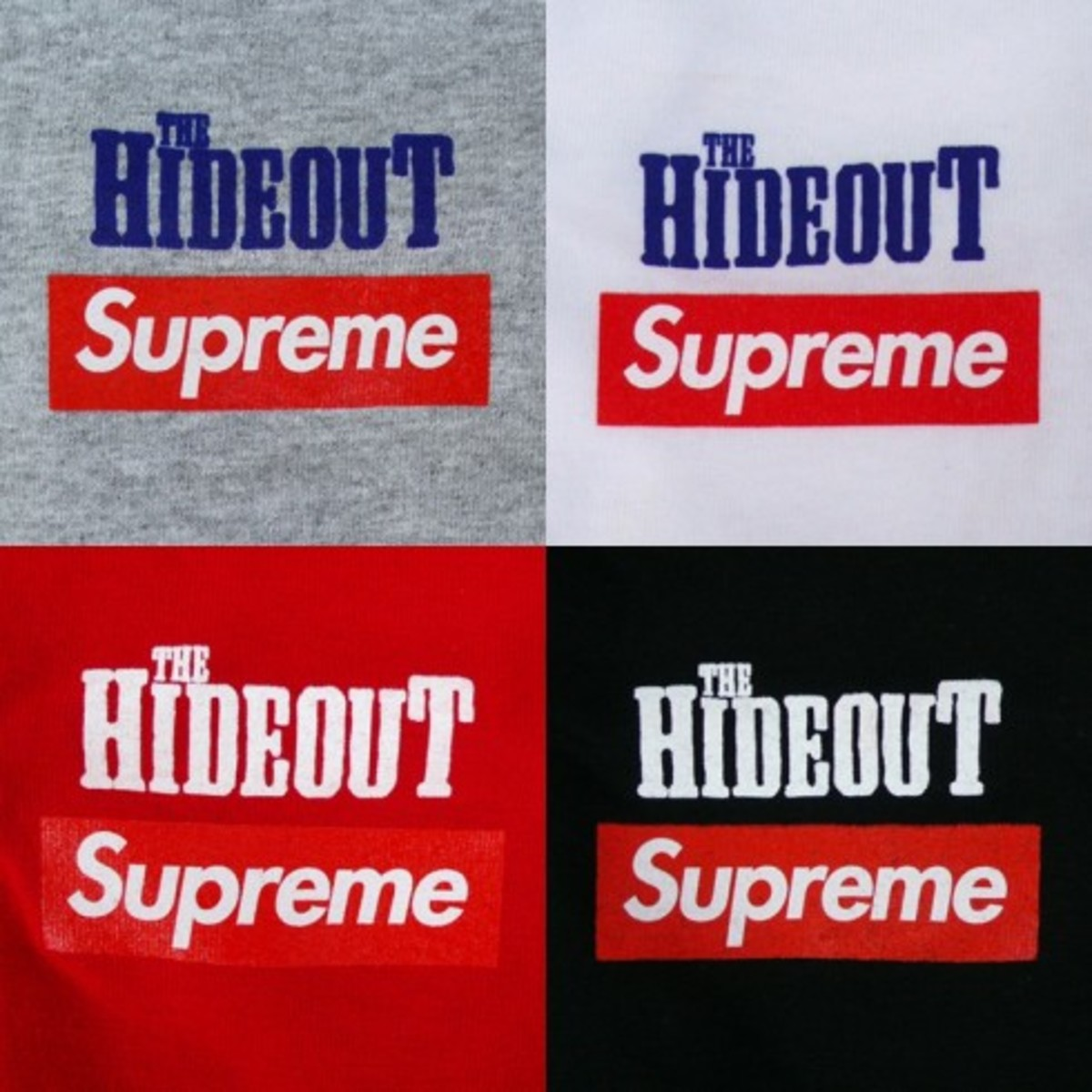 Supreme x The Hideout - 10th Anniversary Tee - 2