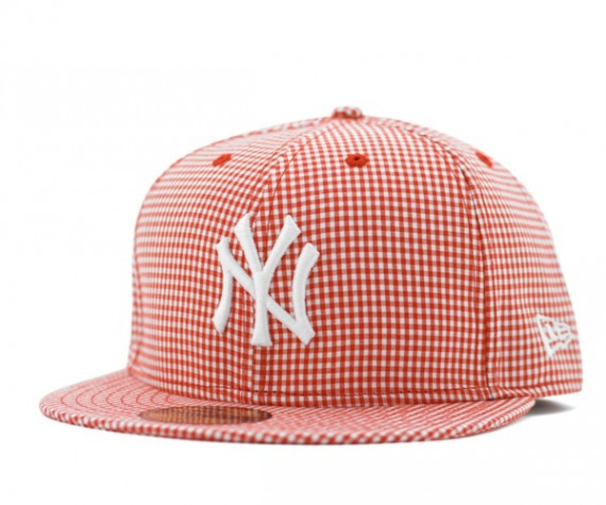 Gingham Check NY Yankees Red