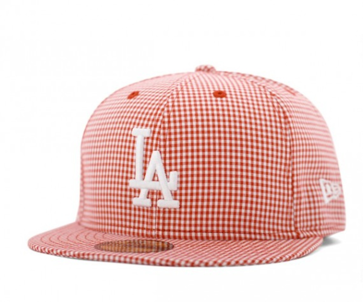 Gingham Check LA Dodgers Red