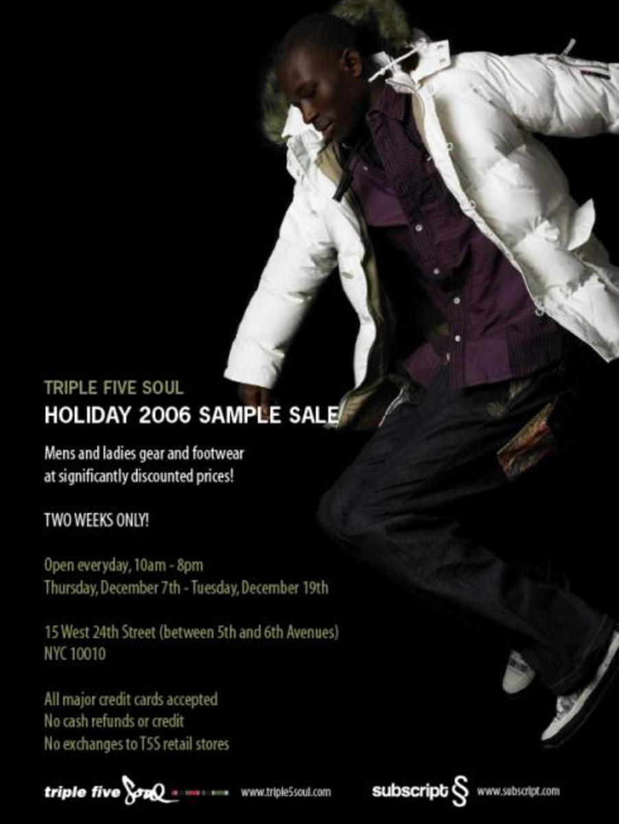 Triple 5 Soul Holiday 2006 Sample Sale - 1