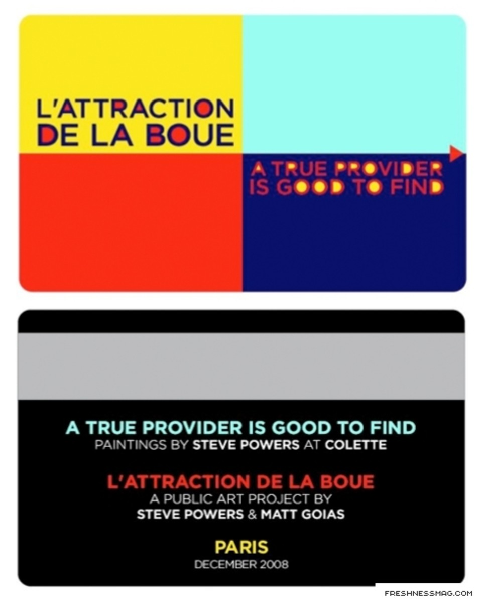 Steve Powers (aka ESPO) x Matt Goias - L'Attraction De La Boue Key Card