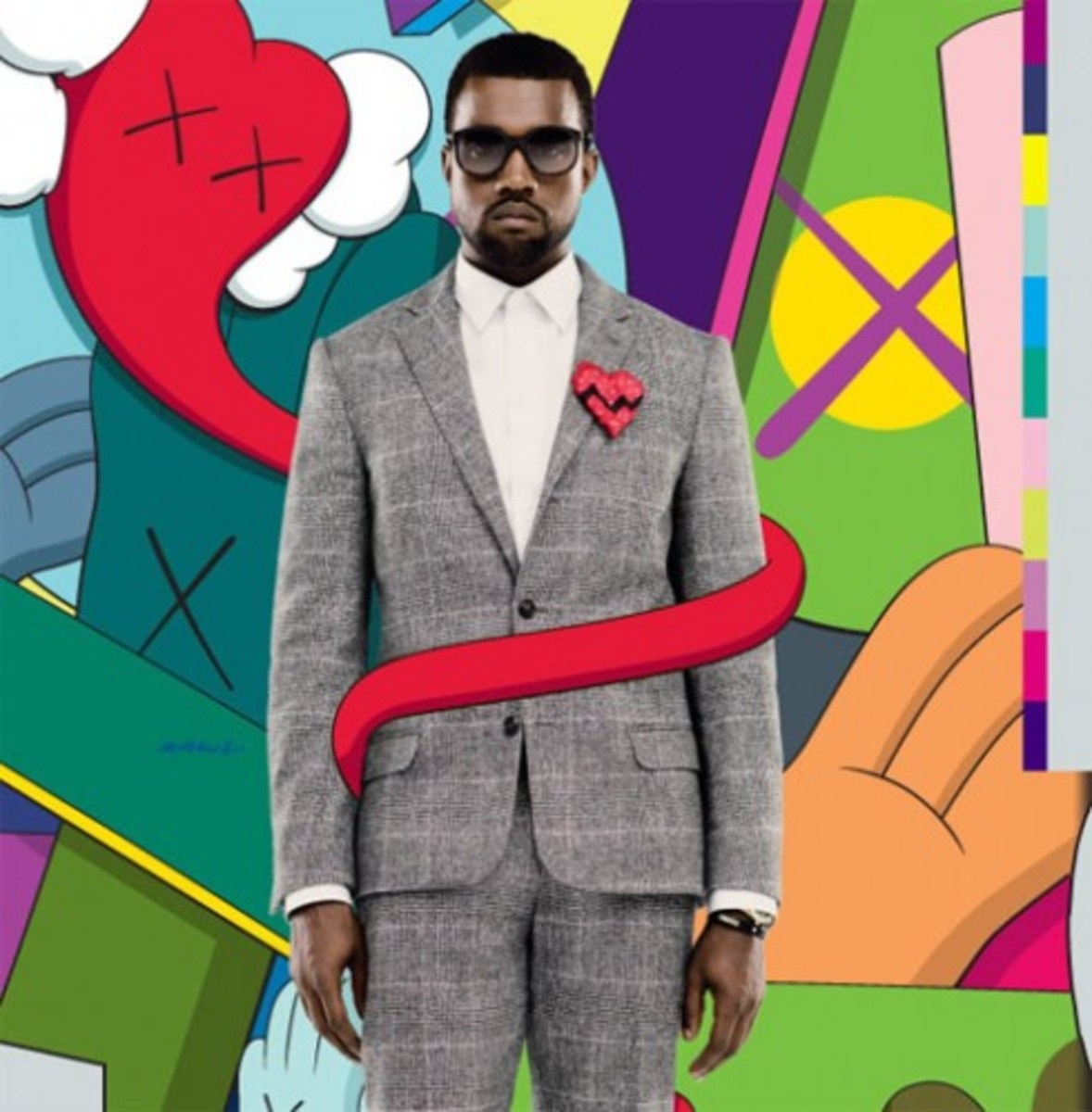 Kanye West x KAWS - 808's and Heartbreak Cover - 1