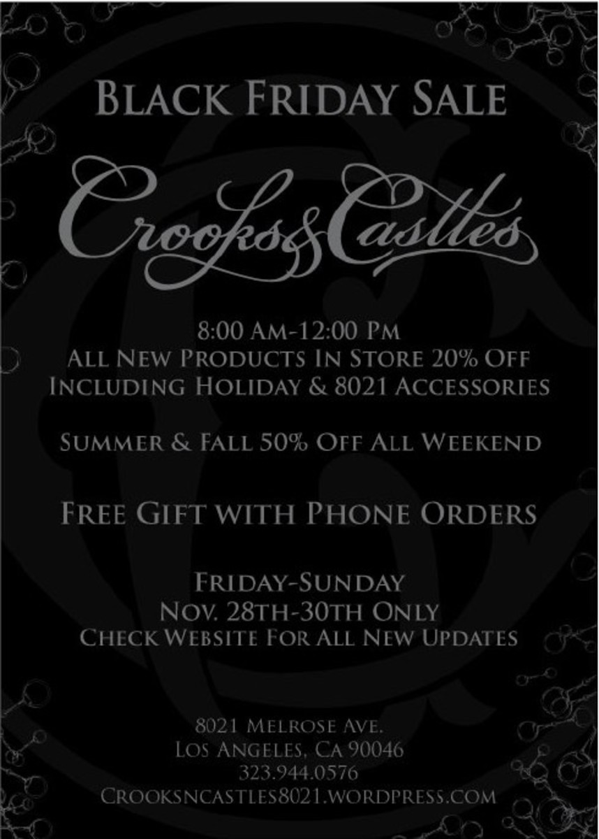 Crooks & Castles - Black Friday Sale