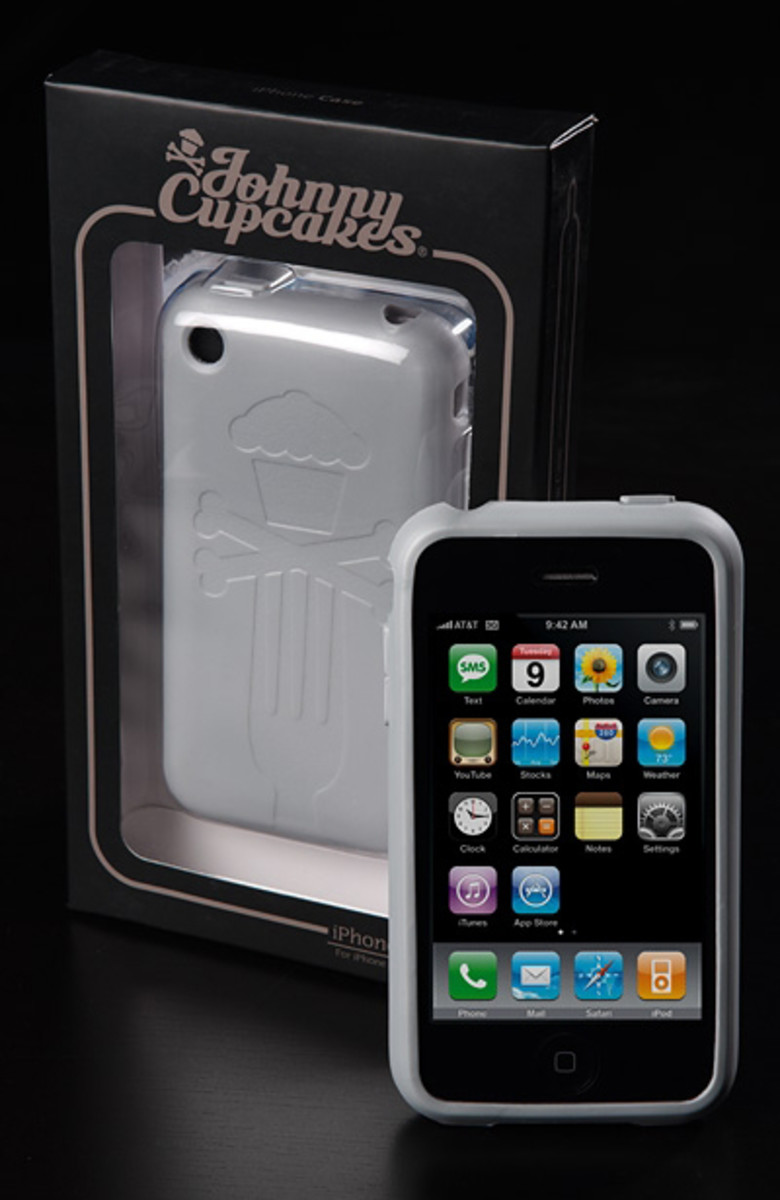 Johnny Cupcake - Apple iPhone Case - Silver