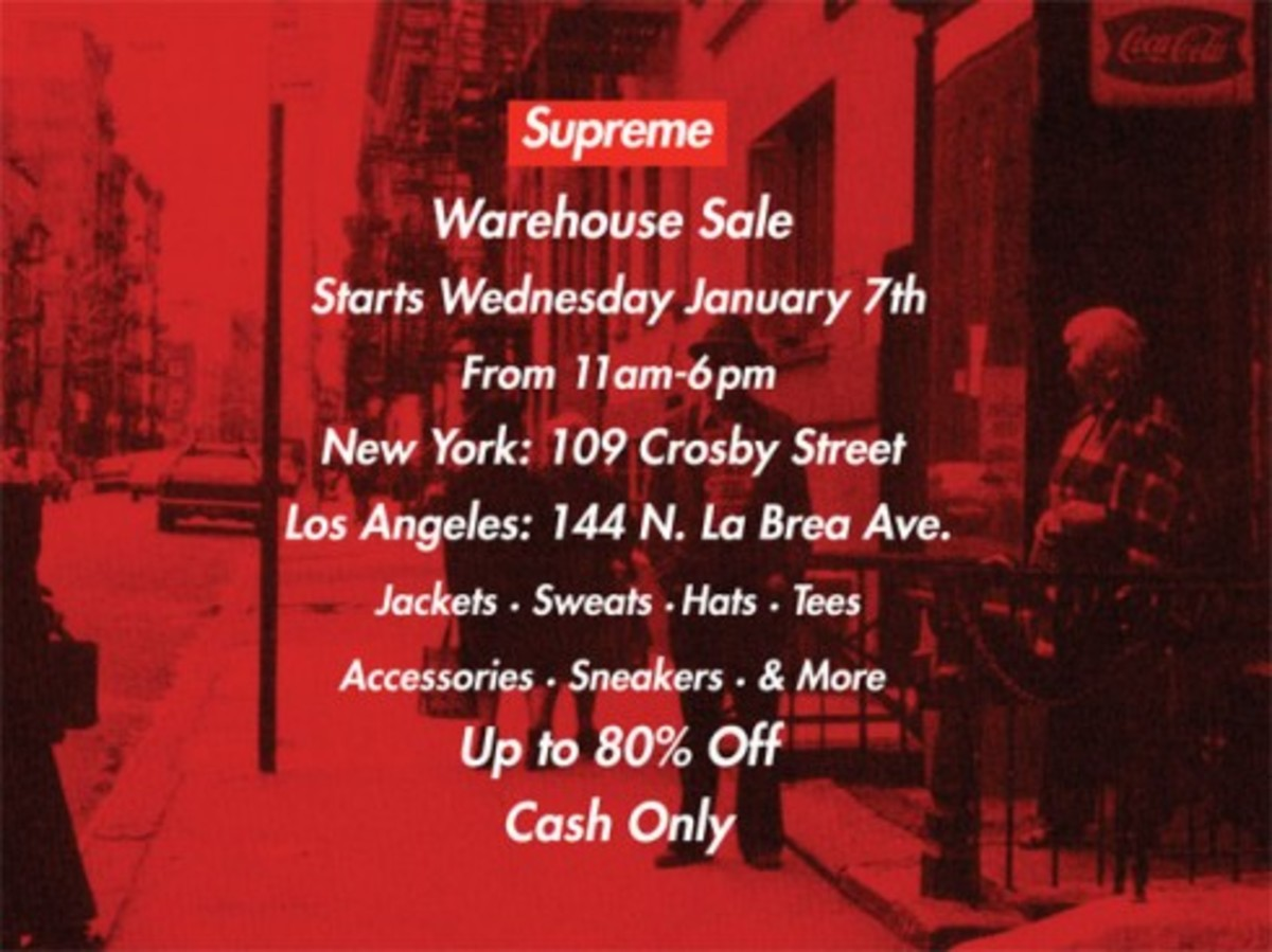 Supreme Warehouse Sale - 0