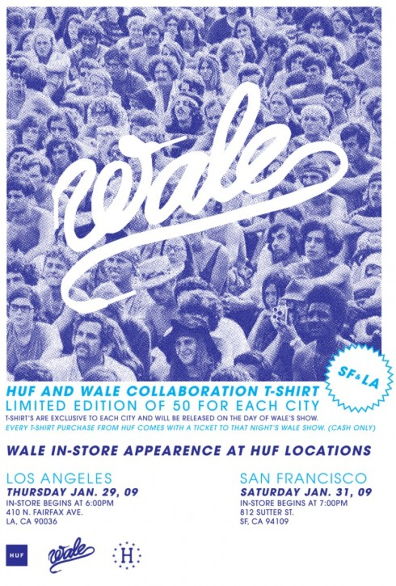 Huf x Wale Exclusive Event Tees