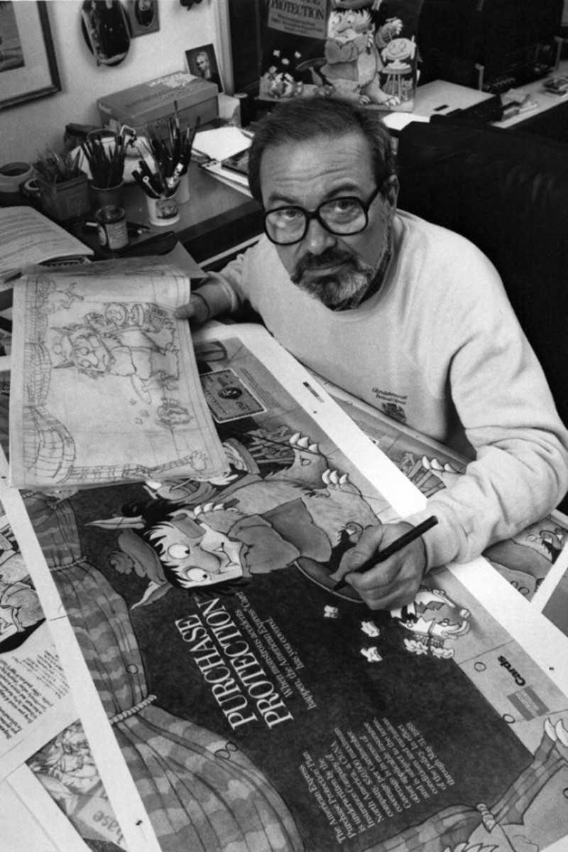 Maurice_Sendak_at_work_01