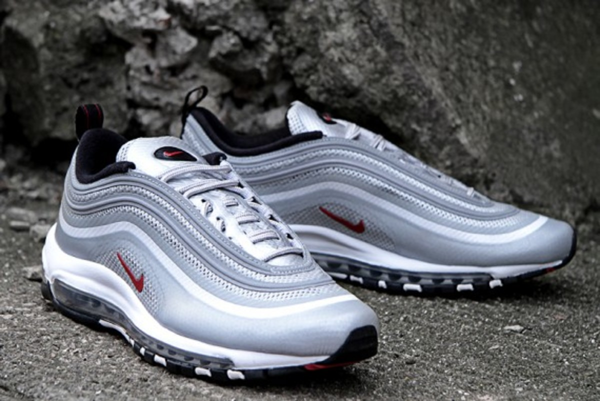Nike Silver Air Max 97 Nere