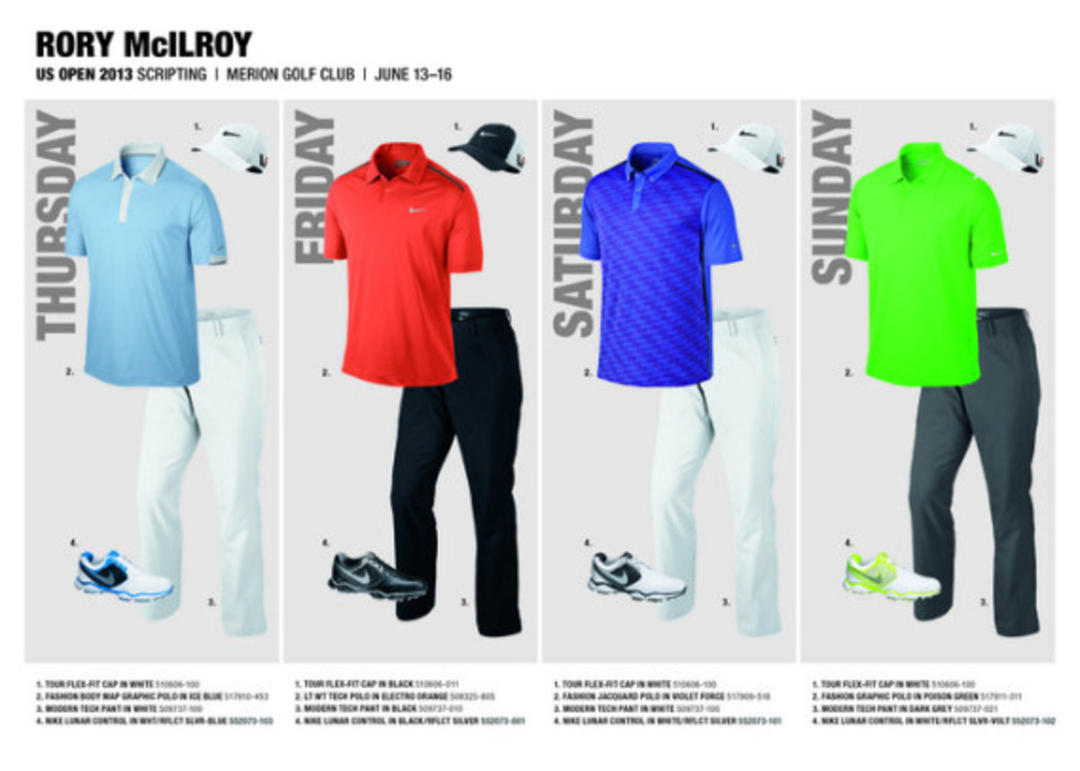 d48a96a3e22a5 Nike Golf - Rory McIlroy s Attire for the US Open 2013 - Freshness Mag