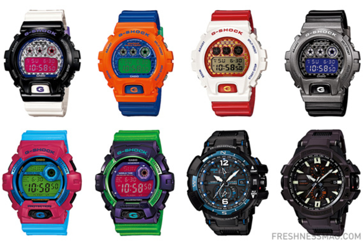 Casio G Shock July 2013 New Releases Freshness Mag