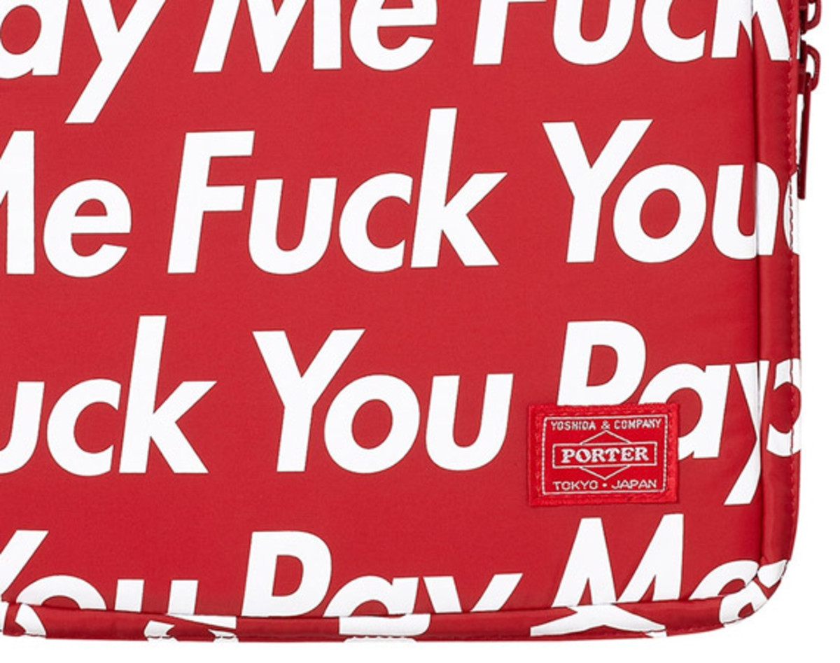 Supreme x PORTER   Fuck You Pay Me iPhone & iPad Cases | Available Now