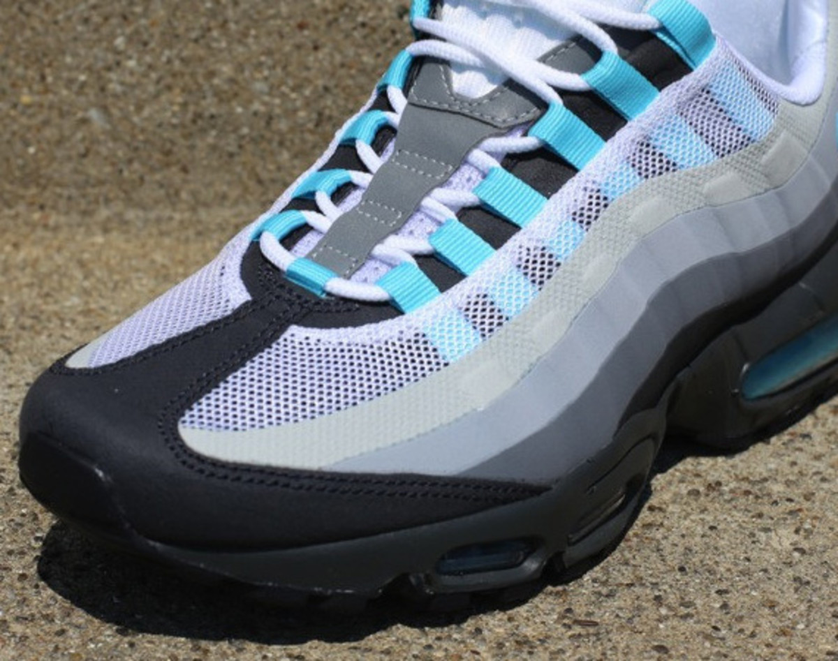 sports shoes 371f5 2e5d0 Nike Air Max 95 No-Sew - Anthracite/Tide Pool Blue-Cool Grey ...