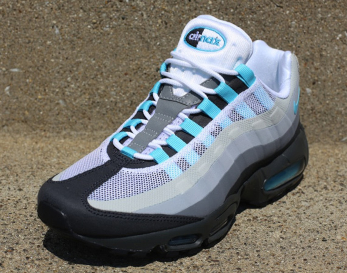 177de96ce3 Nike Air Max 95 No-Sew - Anthracite/Tide Pool Blue-Cool Grey ...