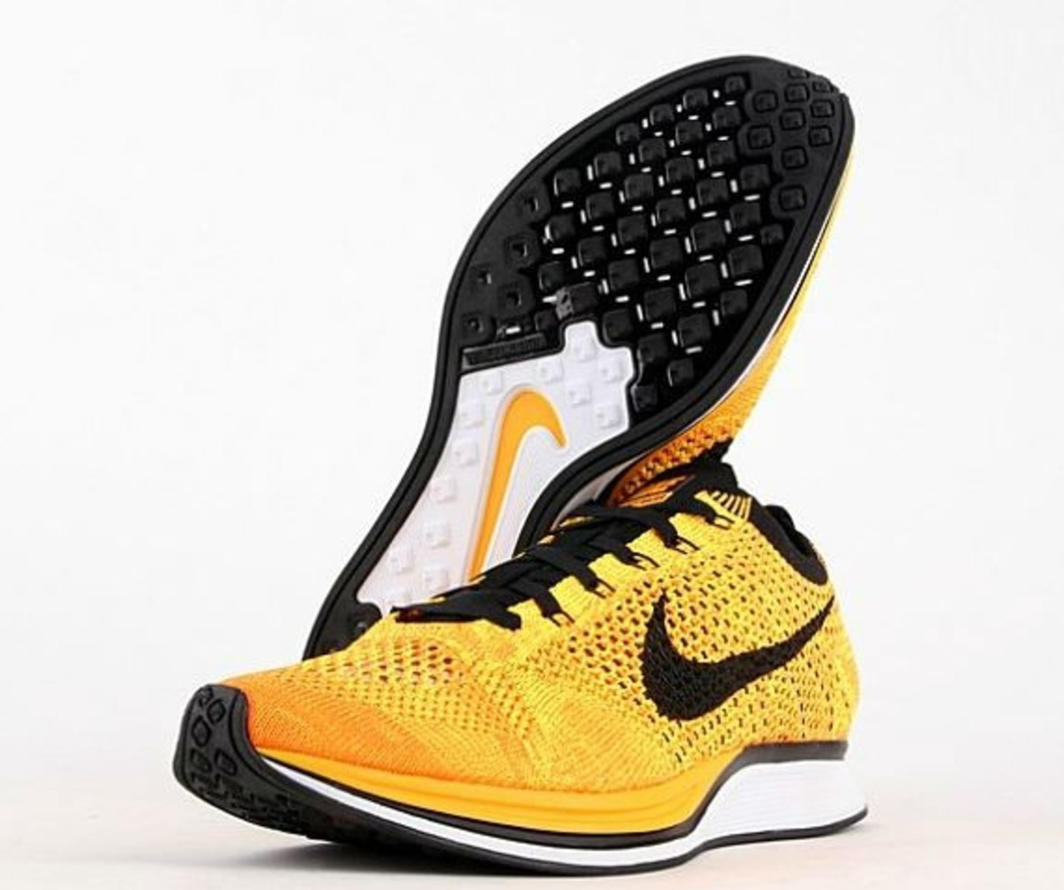 new product 33822 fd41a Nike Flyknit Racer - Yellow Black   Available Now - Freshness Mag