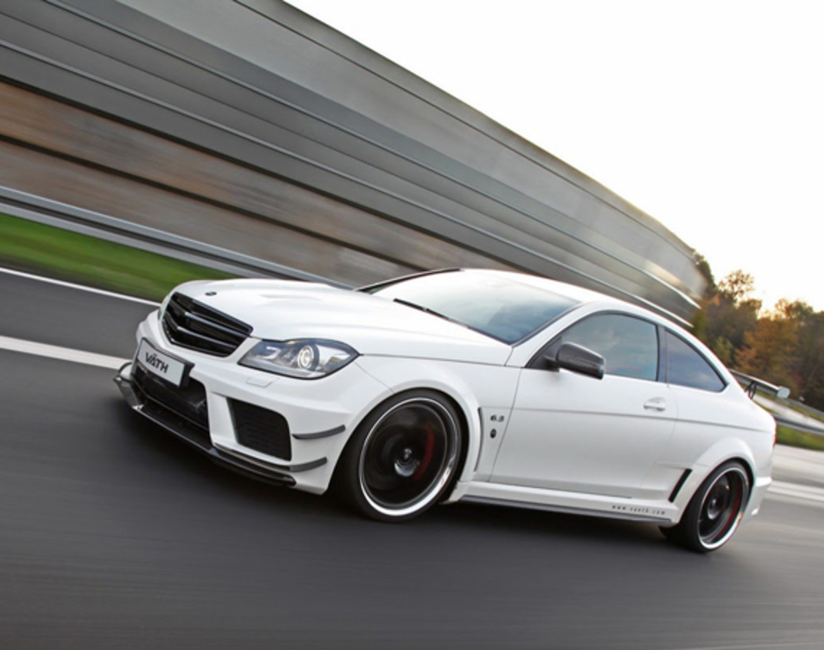 mercedes benz c63 amg coupe black edition tuned by v th