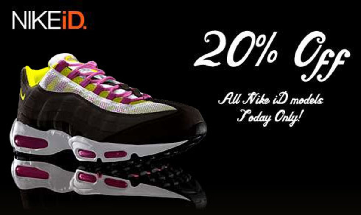 NIKEiD 20% Off select models sale - Today Only! - 0