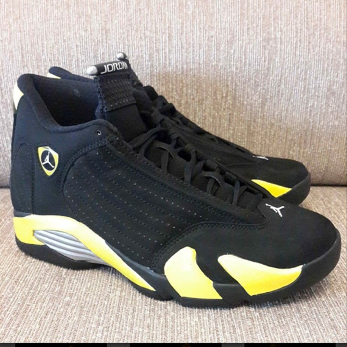 """There is plenty to celebrate about this coming July 4th as Jordan Brand is  to launch the Air Jordan 14 """"Thunder"""" on that day. e37a0a18e"""