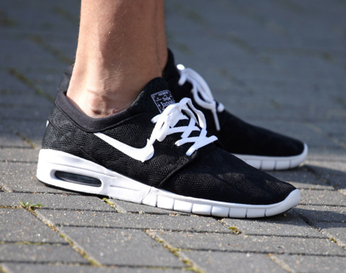 nike sb stefan janoski max black white freshness mag. Black Bedroom Furniture Sets. Home Design Ideas