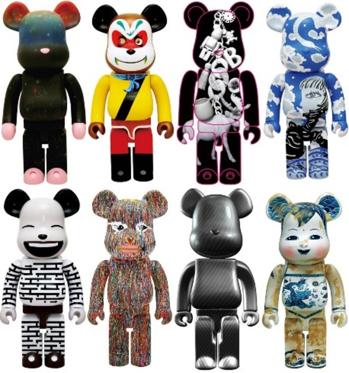 MEDICOM TOY x Chinese Artists - 1000% BE@RBRICK - 0