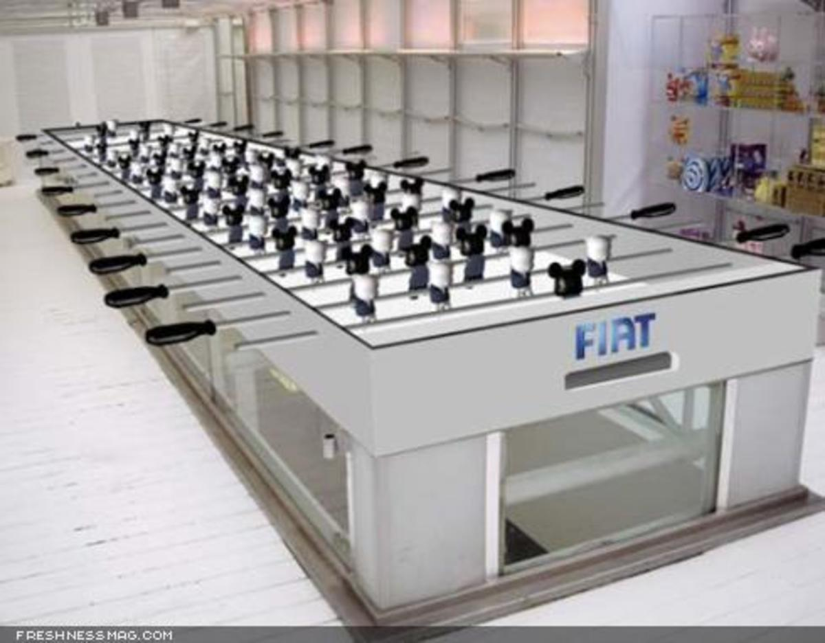 Toy2R x FIAT - World's Longest Foosball Table - 2