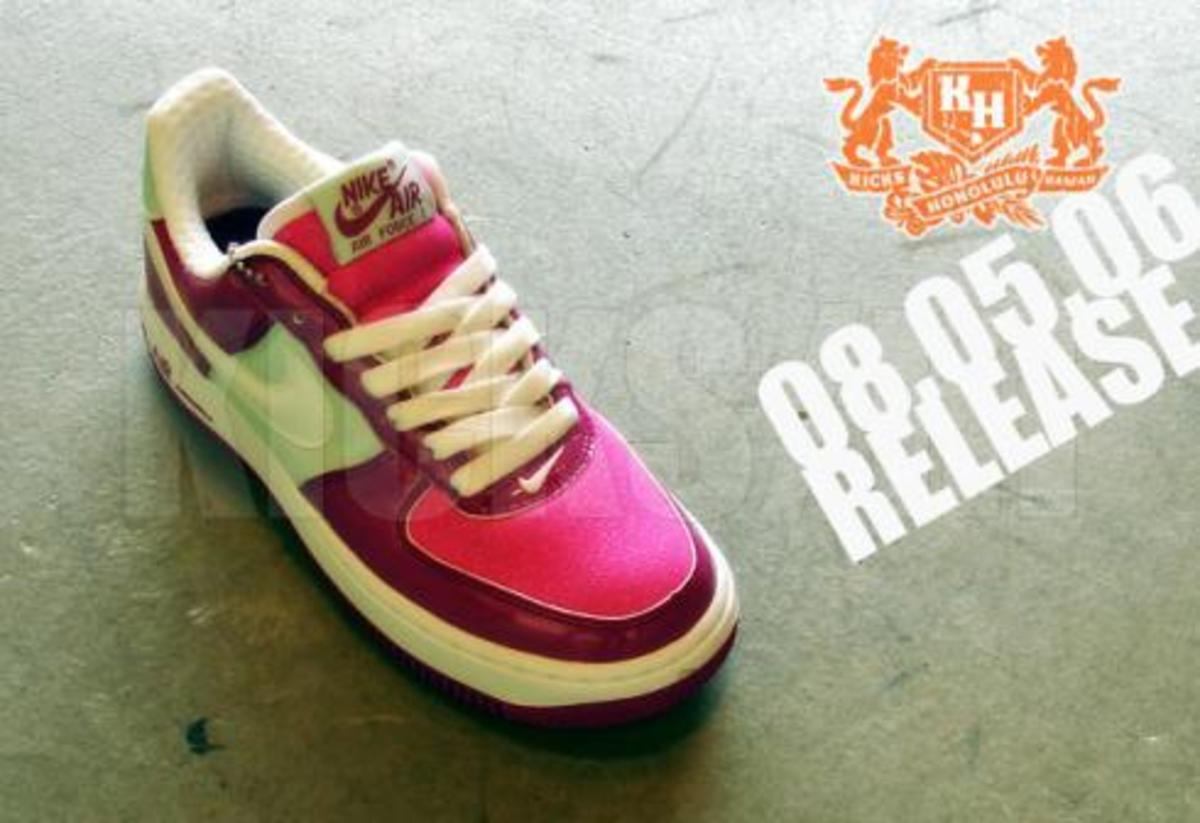 Nike  Air Force 1 Premium - Patent/Pink/White - 1