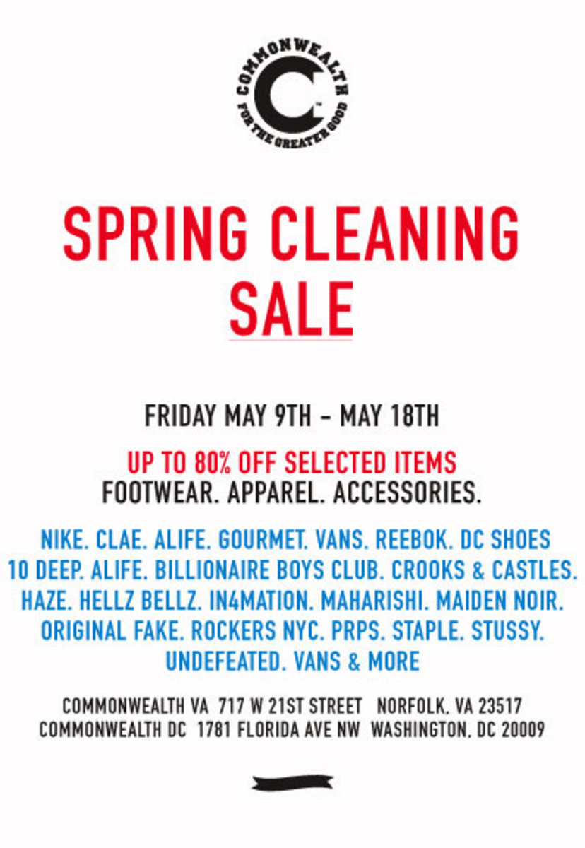 Commonwealth - Spring Cleaning Sale - 0