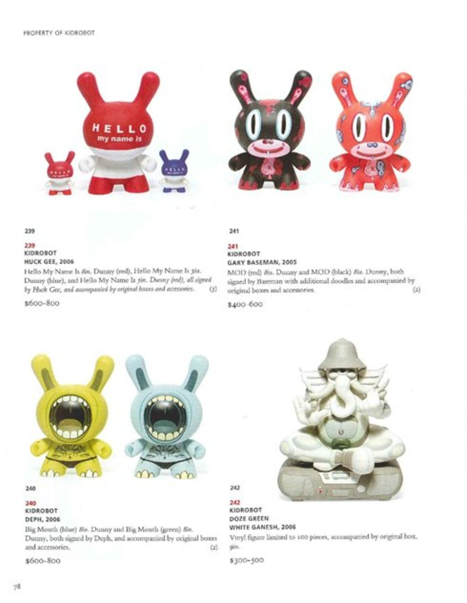 CHRISTIE'S - Pop Culture Auction - Kidrobot | Tilt | Kozik | Joe Ledbetter | Tristen Eaton | Sucklord