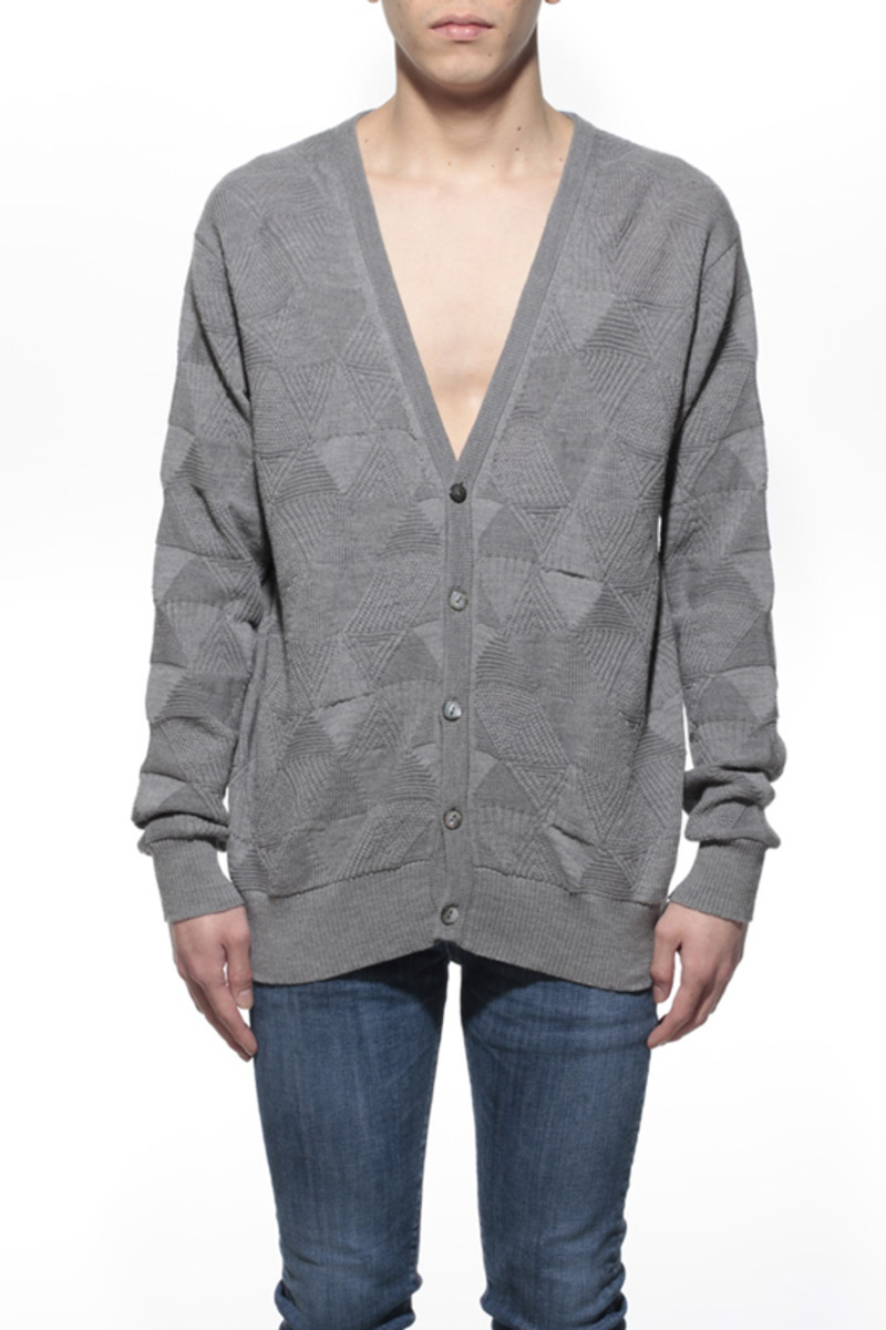 Delta Knitted Cardigan Heather Gray