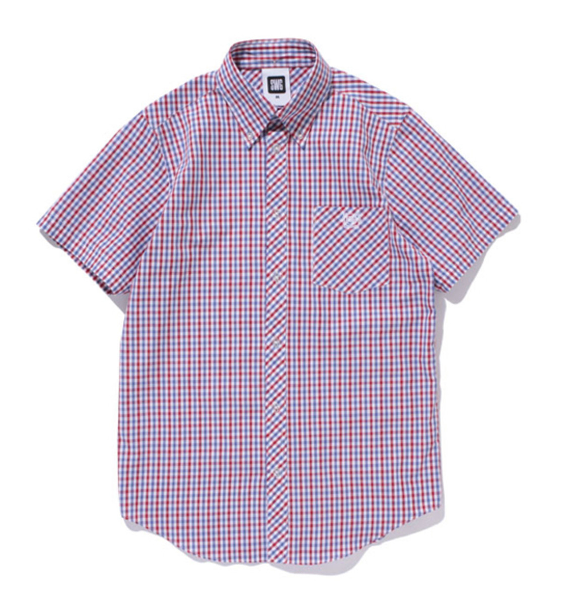 Gingham Check BD SS Shirt Red