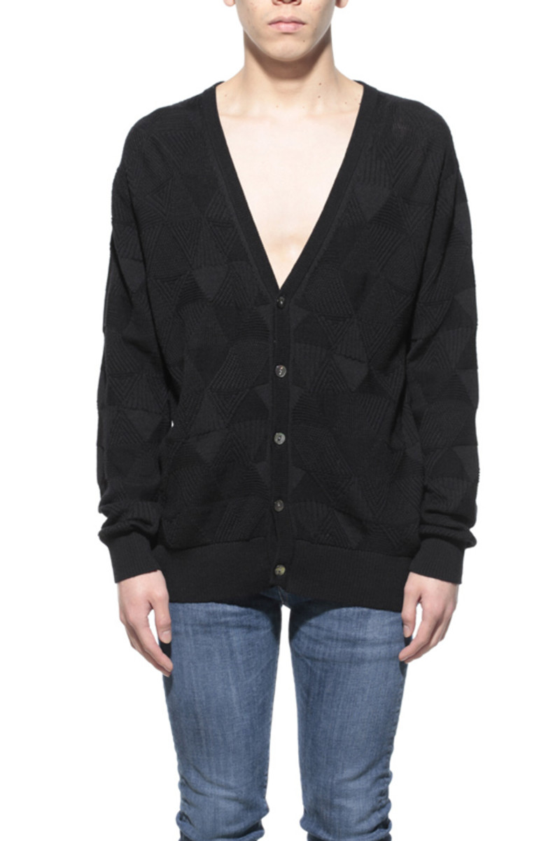 Delta Knitted Cardigan Heather Black