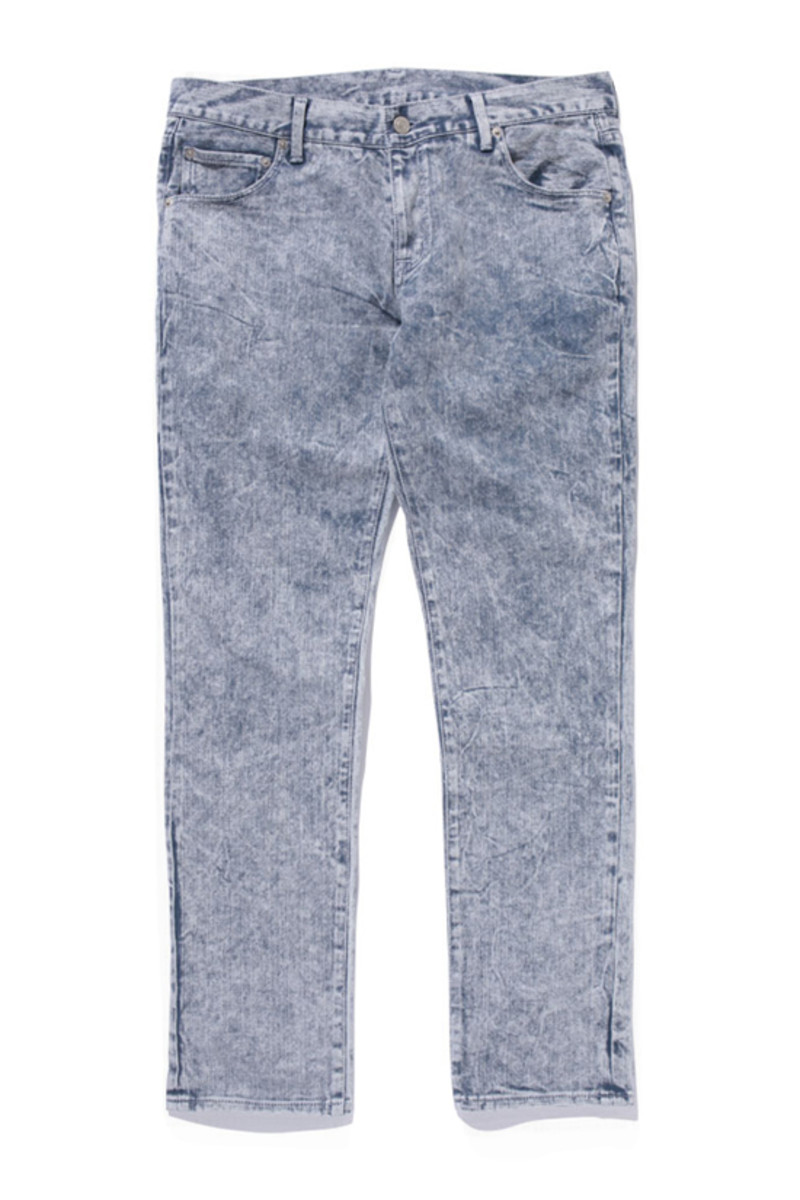 Crater Wached Denim Pants Gray