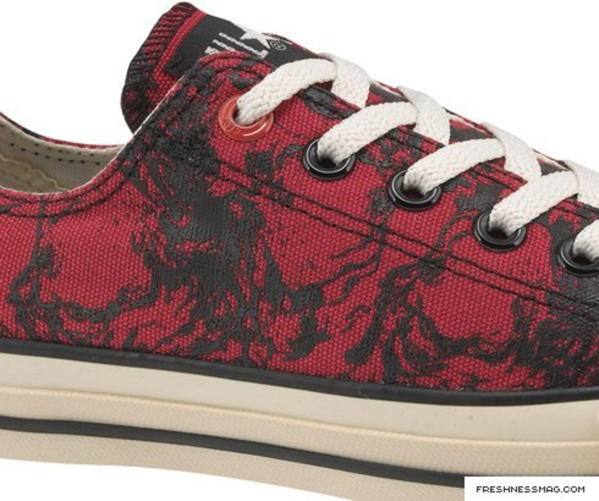 Converse 1HUND(RED) - Grandpeople (Artist #37) Finished Draugen Chuck Taylor All Star Ox