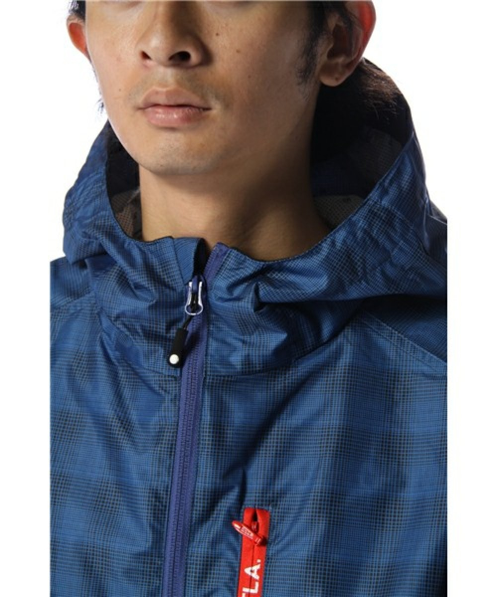Grid Runner Hood Jacket Navy 4