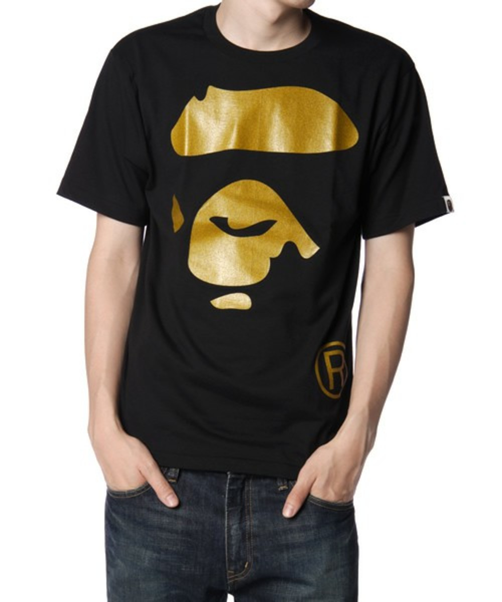 Face T-Shirt Gold Black