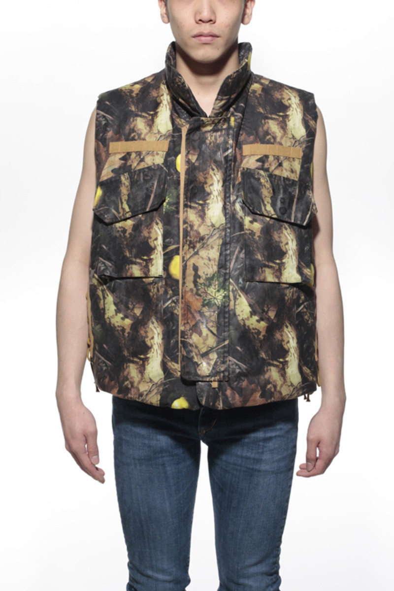 Lemon Camo Waxed Cotton Vest