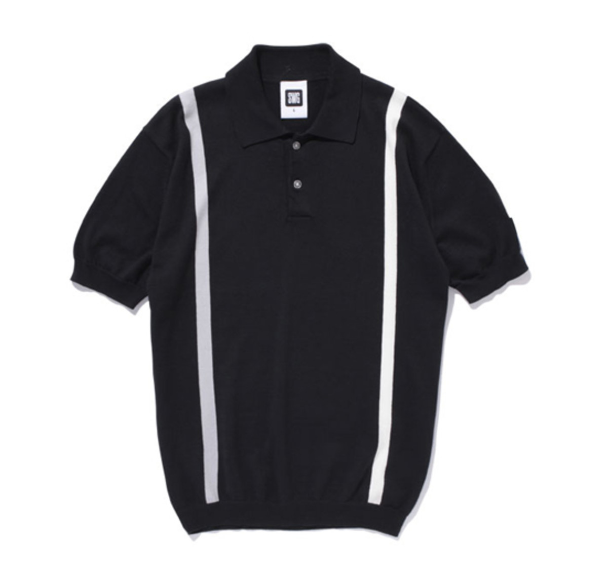 Knit Polo Black