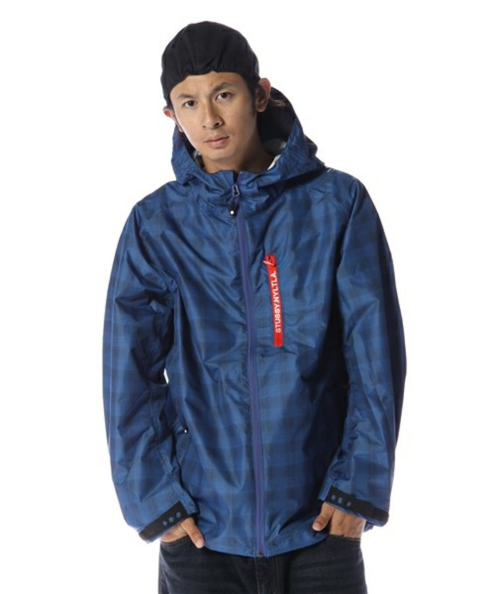 Grid Runner Hood Jacket Navy