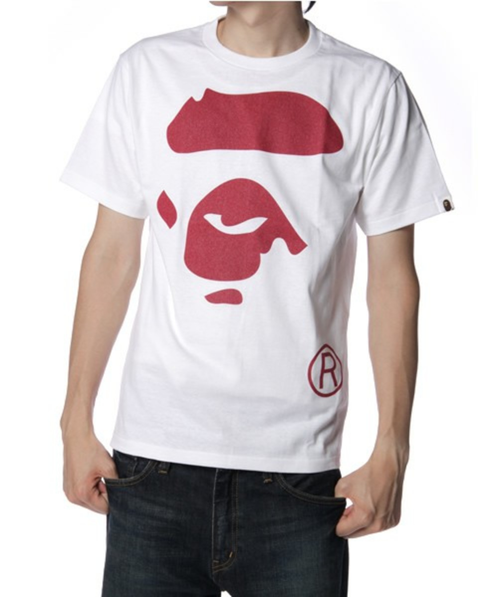 Face T-Shirt Red White