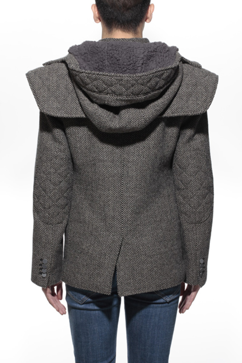 Tweed Shell Jacket Gray 2