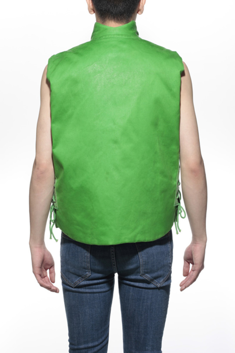 Waxed Cotton Vest Green 2