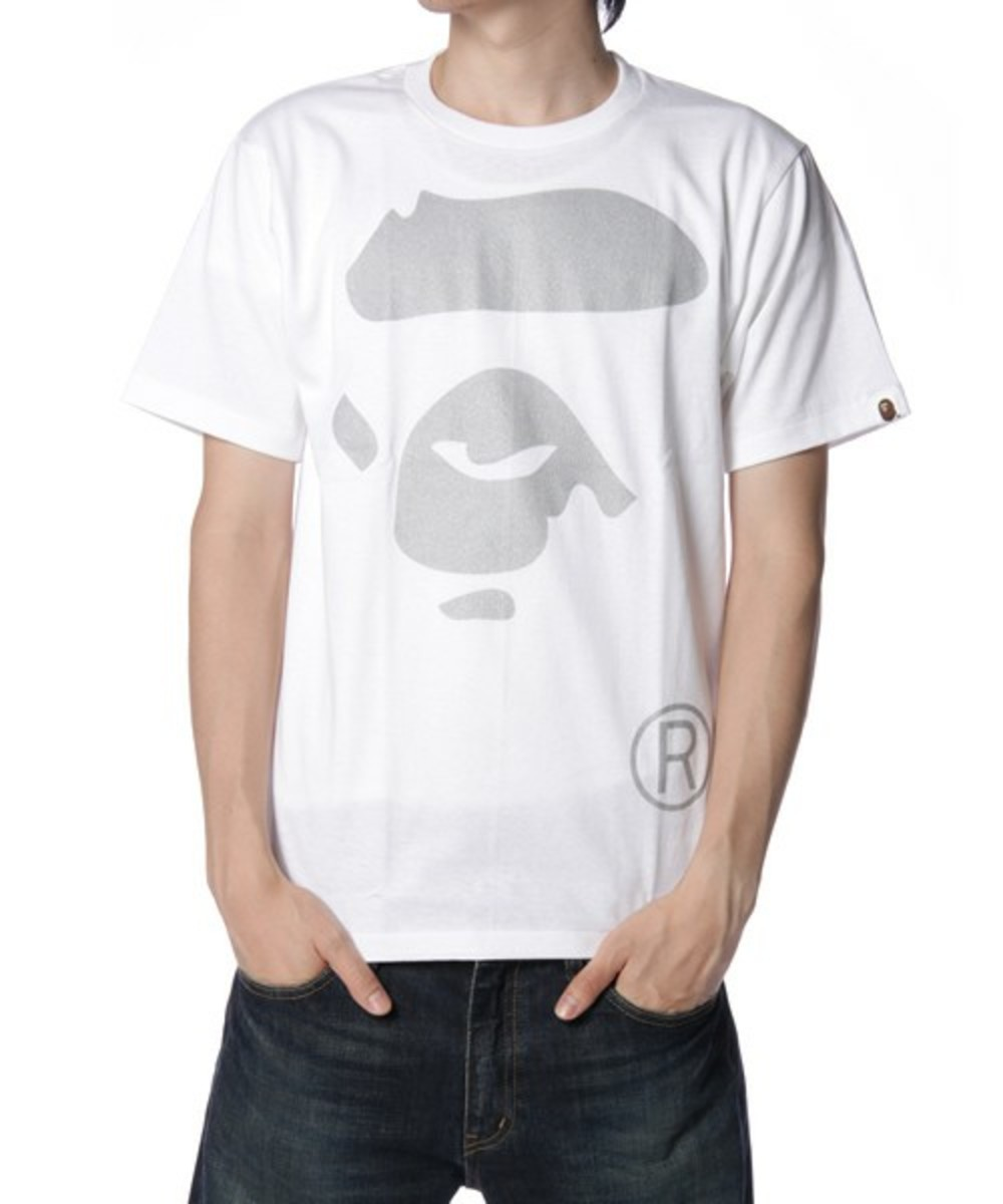 Face T-Shirt Silver White