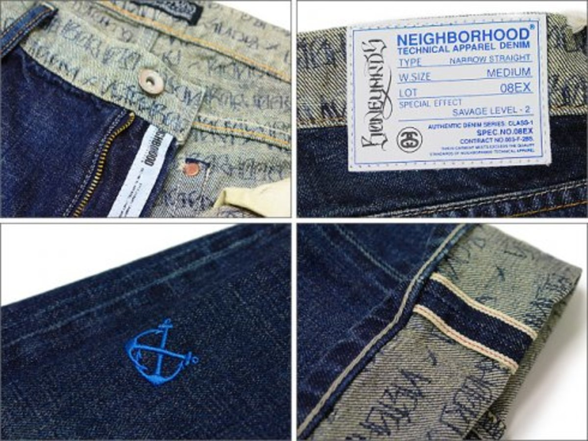 Stussy x NEIGHBORHOOD - Boneyards Washed Denim - 1