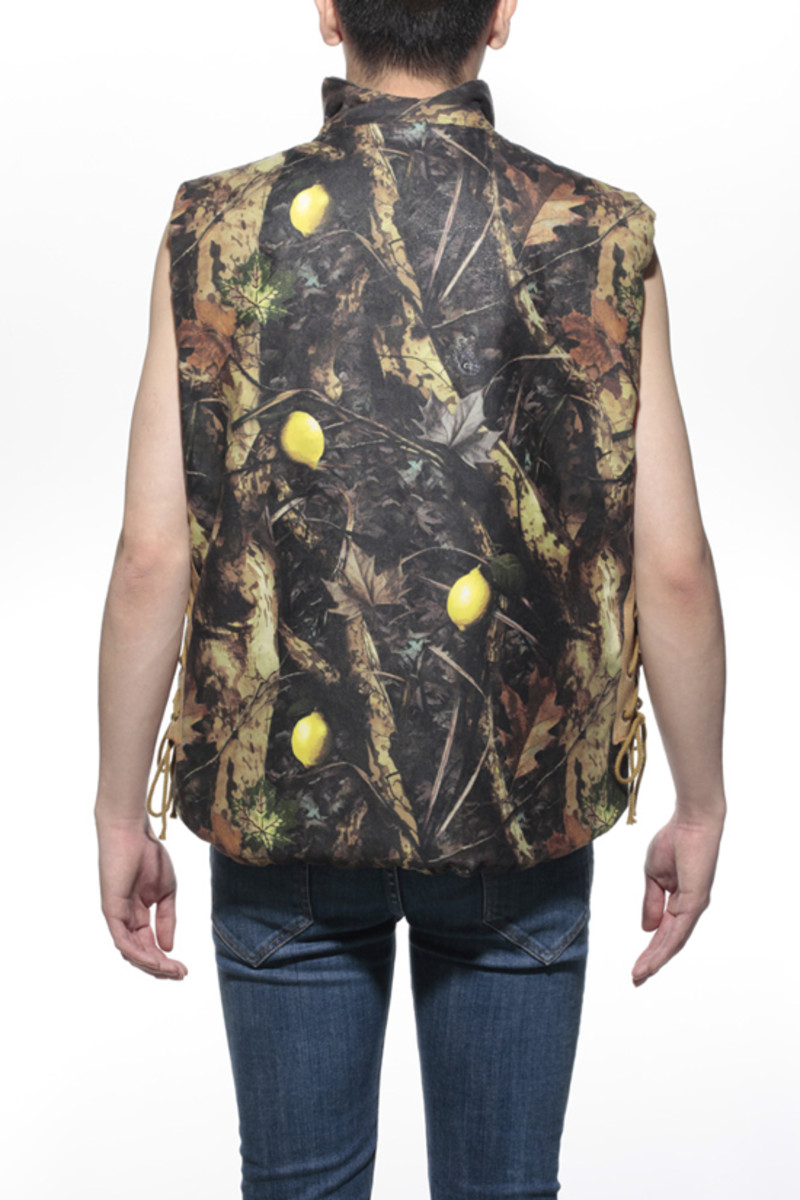 Lemon Camo Waxed Cotton Vest2